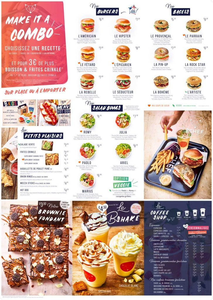 franchise burger bchef menu